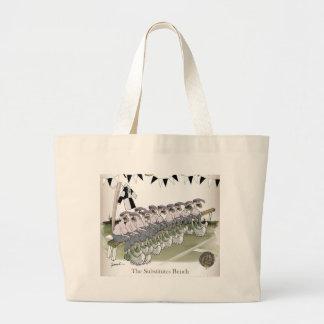 Grand Tote Bag le football substitue le noir + kit blanc