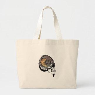 Grand Tote Bag Le guerrier à cornes