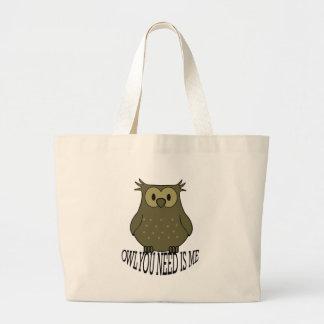 Grand Tote Bag le hibou que vous avez besoin est moi