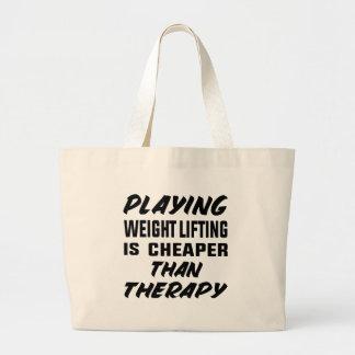 Grand Tote Bag Le jeu de l'haltérophilie est meilleur marché que
