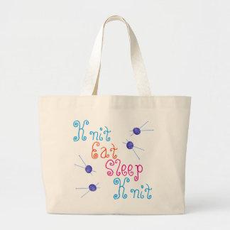 Grand Tote Bag Le Knit mangent le Knit de sommeil avec des