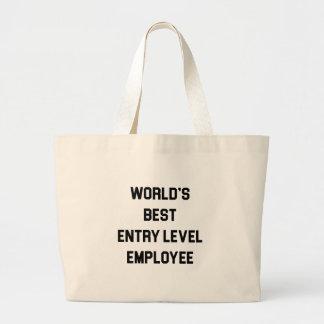 Grand Tote Bag Le meilleur employé de niveau d'entrée