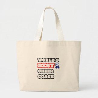 Grand Tote Bag Le meilleur entraîneur de l'acclamation du monde