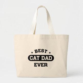 Grand Tote Bag Le meilleur papa de chat jamais