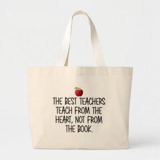Grand Tote Bag Le meilleur professeur du coeur, pas du livre