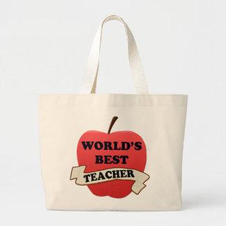 Grand Tote Bag Le meilleur professeur du monde