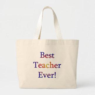 Grand Tote Bag Le meilleur professeur jamais