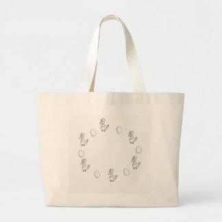 Grand Tote Bag Le poulet ou l'oeuf Jumbotasche