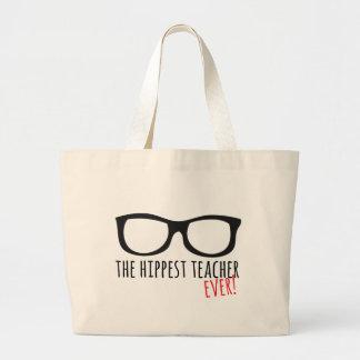 Grand Tote Bag Le professeur le plus hippest jamais !