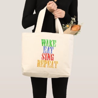 Grand Tote Bag Le sillage mangent chantent la répétition