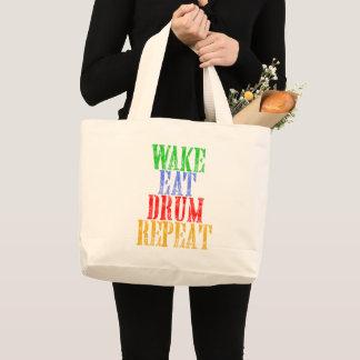 Grand Tote Bag Le sillage mangent la répétition de TAMBOUR