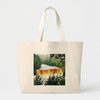 Grand Tote Bag Le stimulant de Tahquamenon tombe péninsule