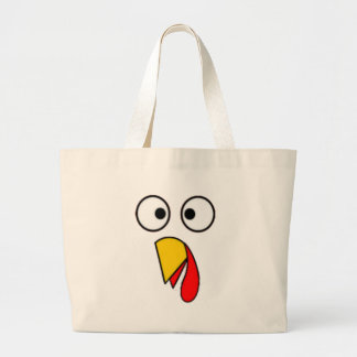 Grand Tote Bag Le thanksgiving Turquie font face au tee - shirt
