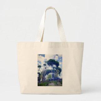 Grand Tote Bag Le type s'est levé - eucalyptus de Laguna - chef