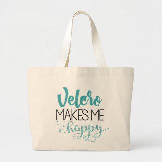 Grand Tote Bag Le Velcro me fait Fourre-tout heureux