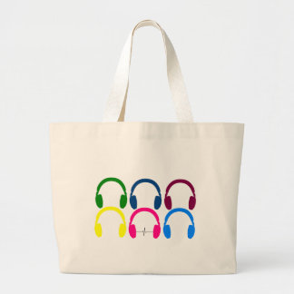 Grand Tote Bag L'écouteur bat l'ECG