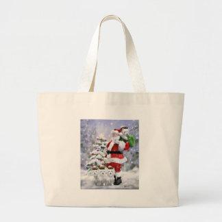 Grand Tote Bag Les aides de Père Noël