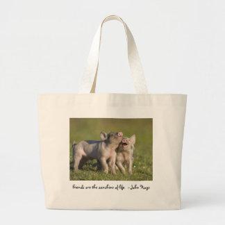 Grand Tote Bag Les amis sont le soleil de la vie