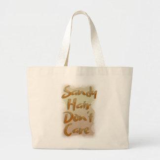 Grand Tote Bag Les cheveux de Sandy ne s'inquiètent pas la plage