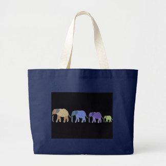 Grand Tote Bag Les éléphants n'oublient jamais