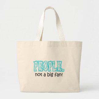 Grand Tote Bag Les gens pas une grande fan