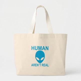 Grand Tote Bag Les humains ne sont pas vrai alien.