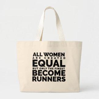 Grand Tote Bag Les plus bonnes femmes deviennent des coureurs