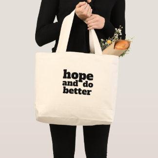 Grand Tote Bag L'espoir et améliorent - la police/couleur