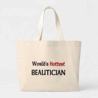 Grand Tote Bag L'esthéticien le plus chaud des mondes