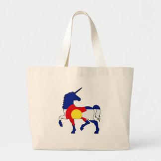 Grand Tote Bag Licornes et Colorado !