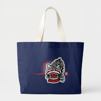 Grand Tote Bag Lion chinois moderne