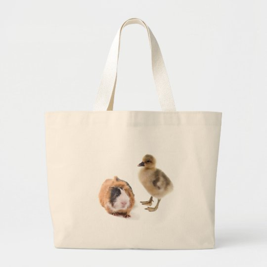 Grand Tote Bag little goose and guinea pig