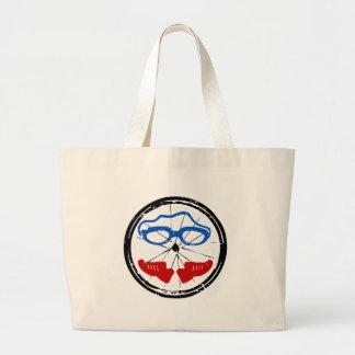 Grand Tote Bag Logo artistique frais de triathlon
