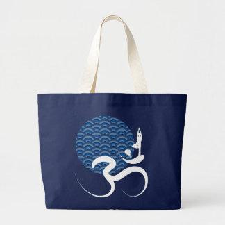 Grand Tote Bag Logo de inscription indien spirituel d'ohm de l'OM