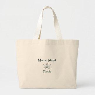 Grand Tote Bag Logo de pirate d'île de Marco