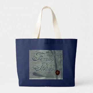 Grand Tote Bag Logo d'histoires de famille