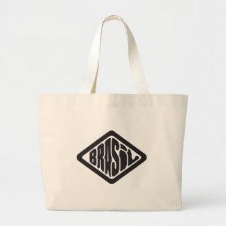 Grand Tote Bag logo du Brésil de forme de diamant rétro