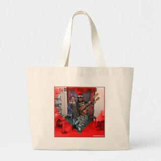 Grand Tote Bag L'olive et le dingo, amusement aimant Portland