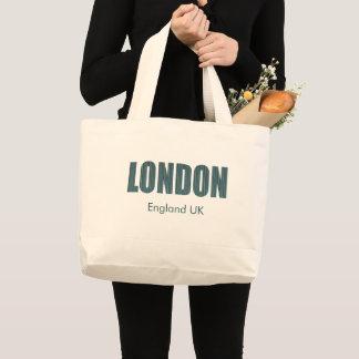 Grand Tote Bag Londres, Angleterre R-U (typographie)