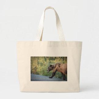 Grand Tote Bag L'ours gris le Yukon, Canada attaque, des