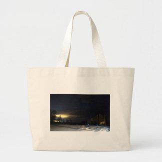 Grand Tote Bag Lueur de soirée d'hiver