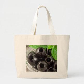 Grand Tote Bag Macro vue détaillée des olives noires