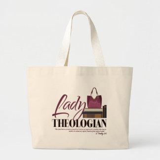 "Grand Tote Bag ""Madame Theologian"" Fourre-tout enorme"