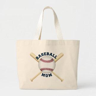 Grand Tote Bag Maman à la mode de base-ball