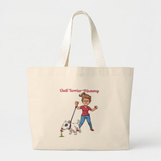 Grand Tote Bag Maman de bull-terrier