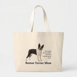Grand Tote Bag Maman Fourre-tout de Boston Terrier