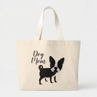 Grand Tote Bag Maman Fourre-tout de chien de bouledogue de