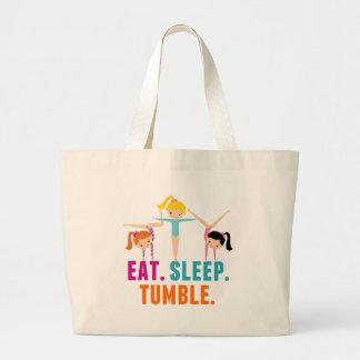 Grand Tote Bag Mangez la gymnastique de dégringolade de sommeil