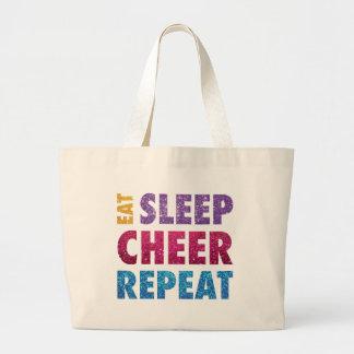 Grand Tote Bag Mangez l'acclamation Repeat-07 de sommeil