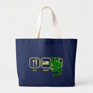Grand Tote Bag Mangez - sommeil - Cthulhu Fourre-tout/sac à